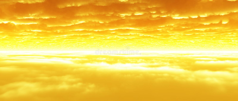 De lagen van de wolk bij schemer stock foto