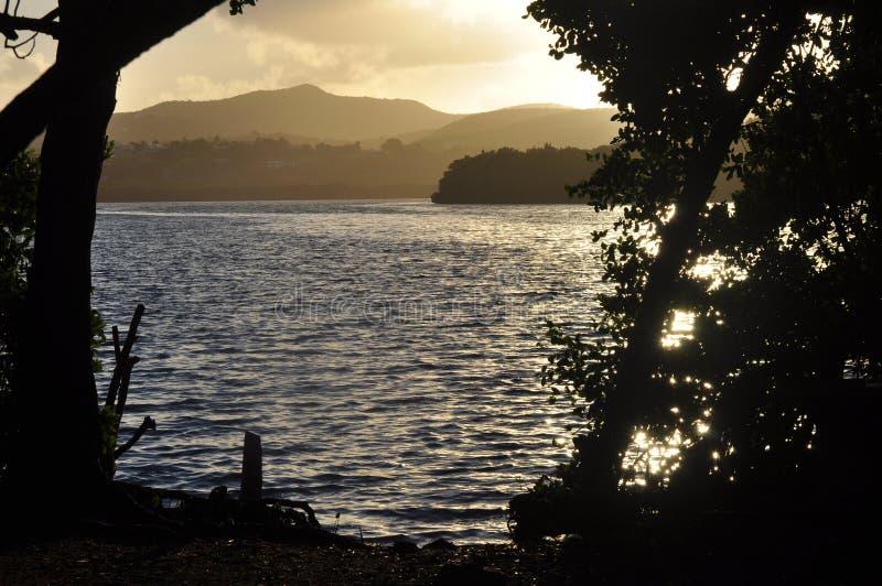 De Lagune in Christiansted, St Croix stock afbeelding