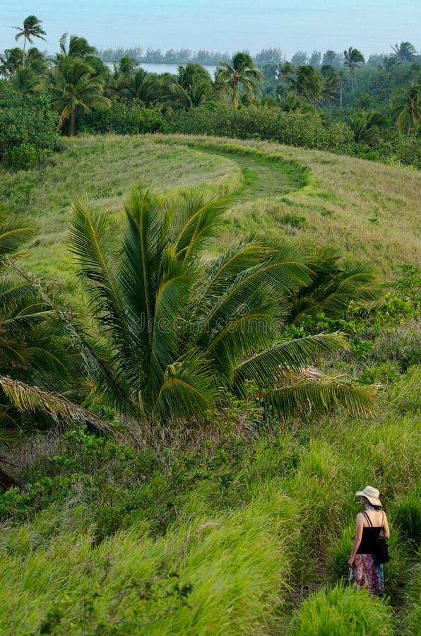 De Lagune Cook Islands van Aitutaki van het toeristenbezoek royalty-vrije stock fotografie