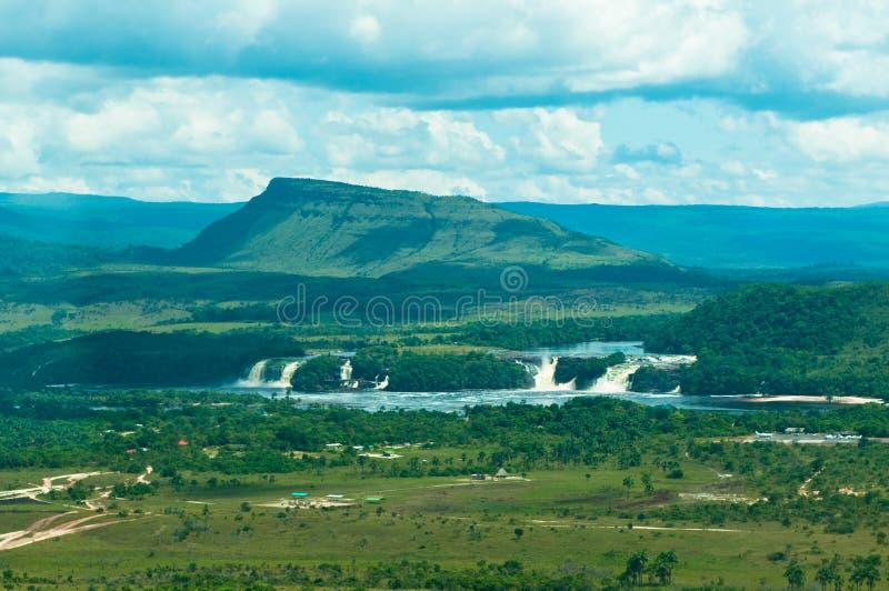 De lagune van Canaima, Venezuela stock foto's