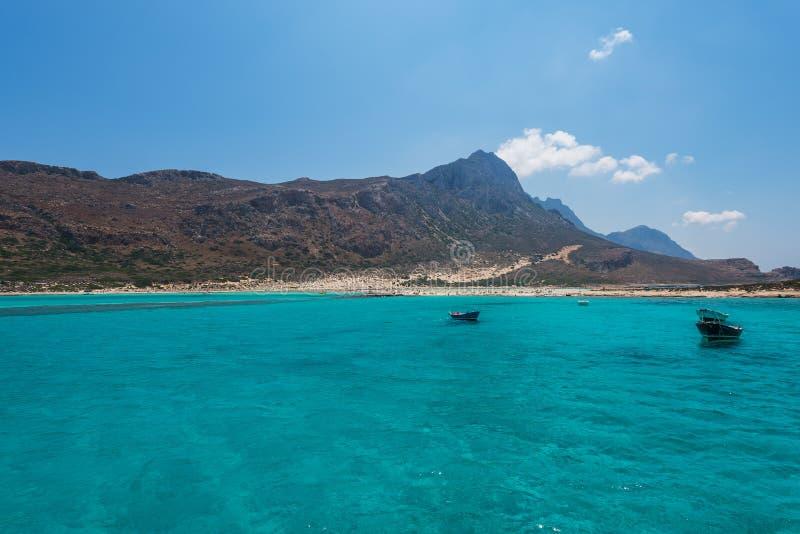 De lagune van het Balosstrand in Kreta royalty-vrije stock foto's
