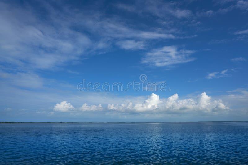 De lagune van Holboxyalahau ook Conil in Mexico stock fotografie