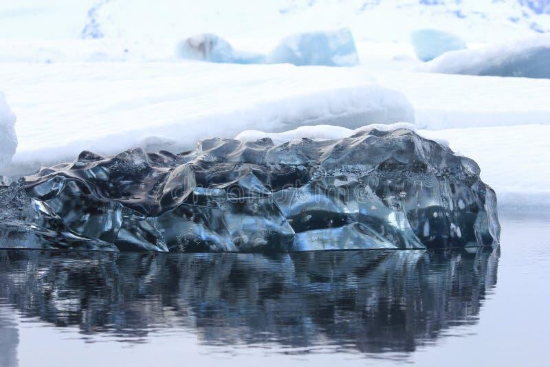 De Lagune van de Jokulsarlongletsjer, IJsland stock foto's
