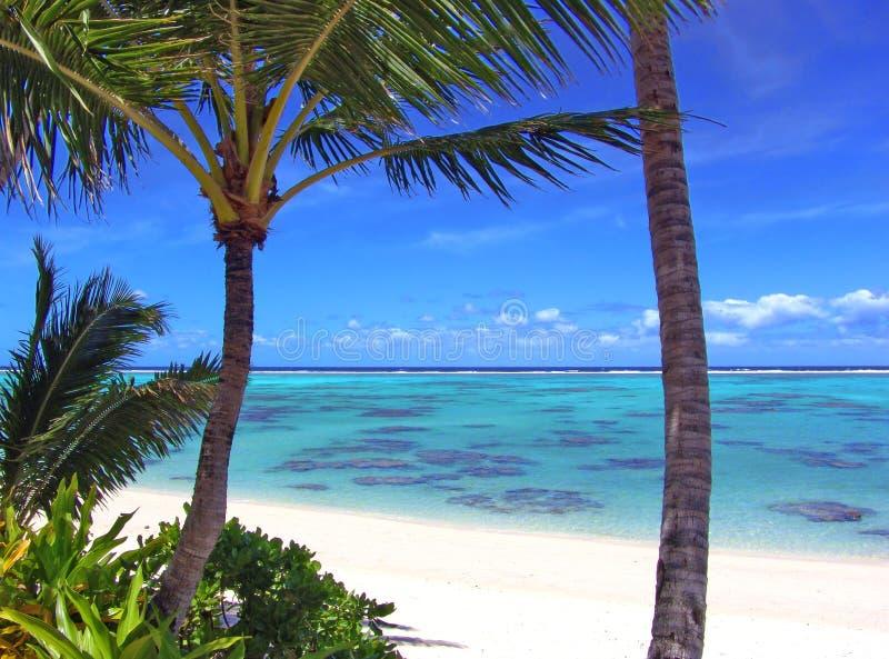 De Lagune van Rarotonga stock fotografie