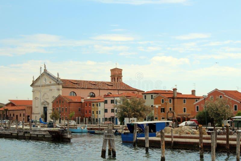 In de lagune van Venetië, Italië royalty-vrije stock fotografie
