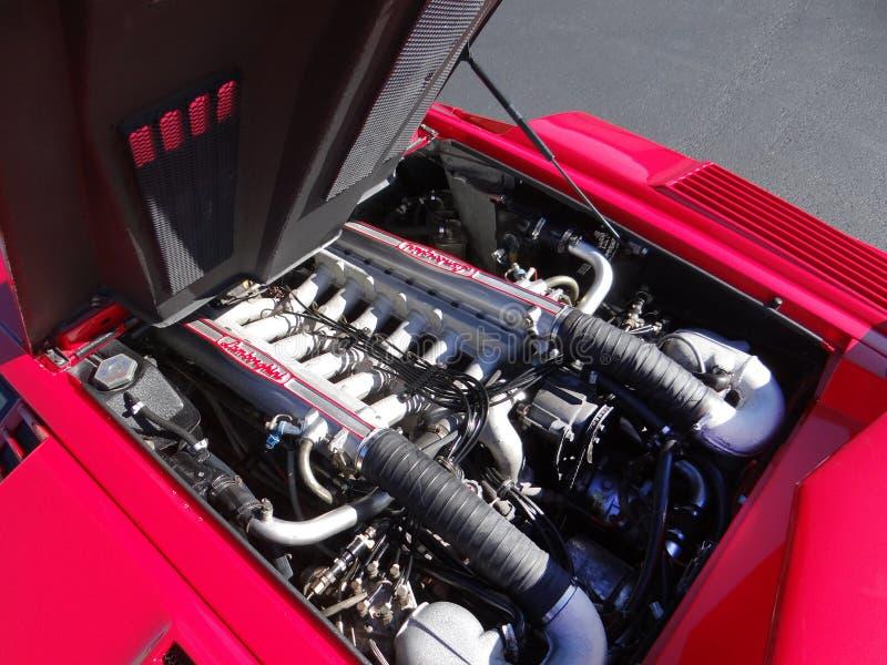 De Lamborghini Countach 25a do aniversário baía 1989 de motor fotografia de stock