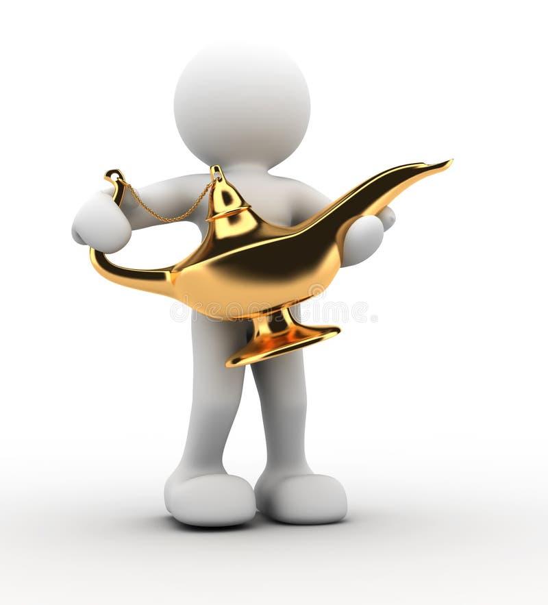 De lamp van Aladdin stock illustratie