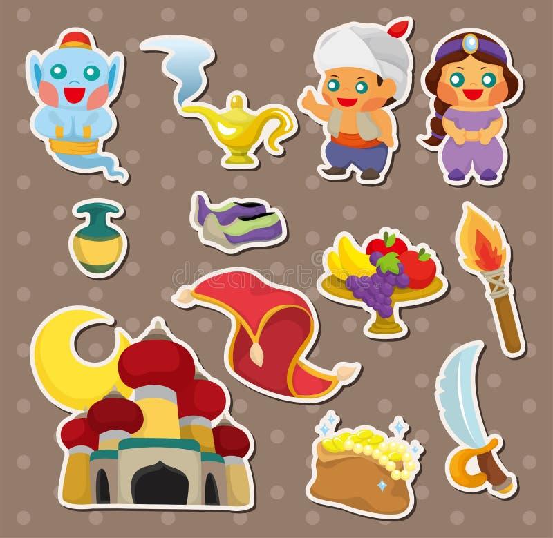 De Lamp van Artoon van stickers Aladdin vector illustratie