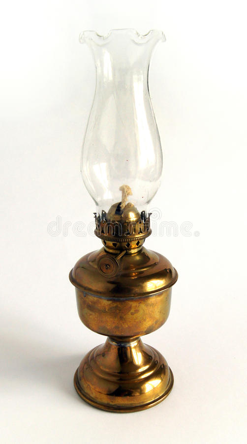 De lamp van de messingsolie stock afbeelding