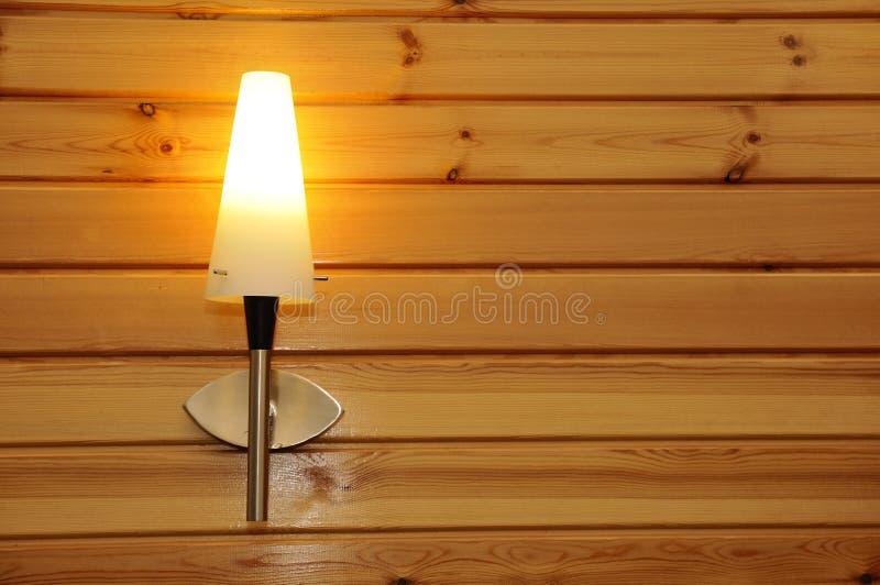 De lamp van de muur stock foto's