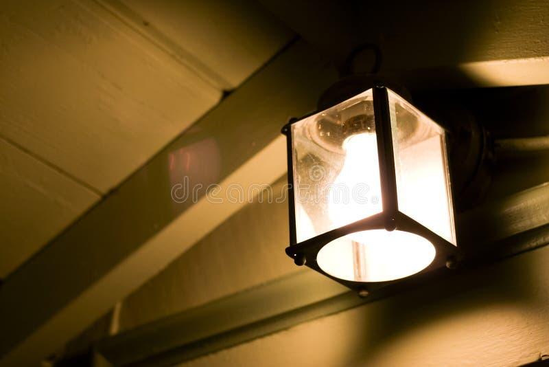 De Lamp van de portiek stock foto
