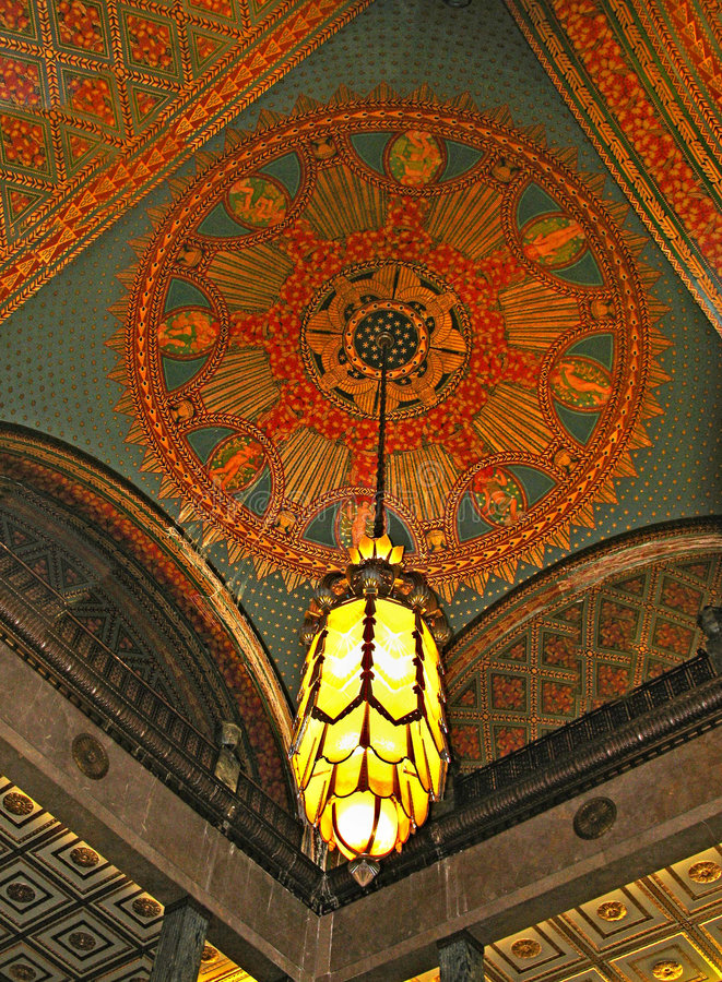 De Lamp van het art deco royalty-vrije stock afbeelding