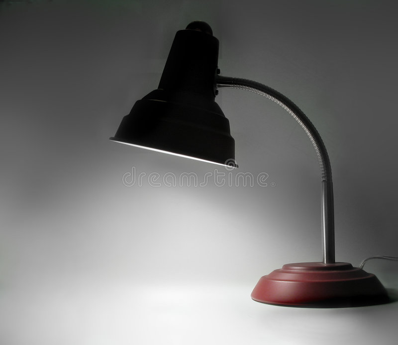 De Lamp van het bureau stock afbeelding