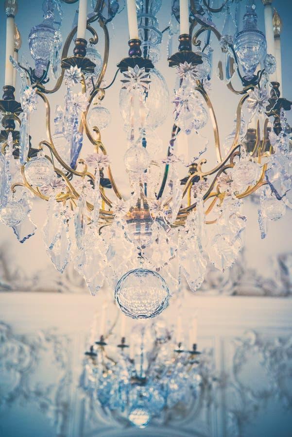 De lamp van het luxekristal stock foto's