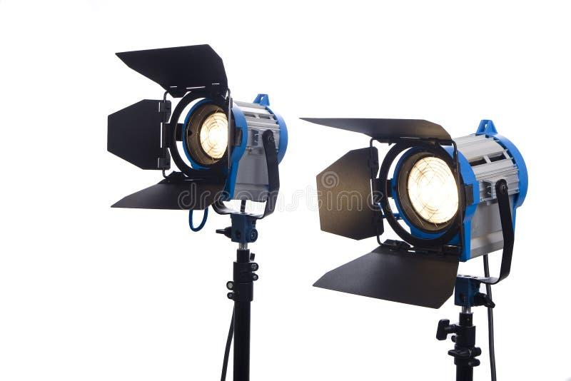 De lampen van de film die op wit worden geïsoleerdj royalty-vrije stock foto