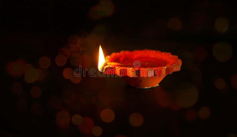 De lampen van kleidiya op Diwali-festival stock afbeelding