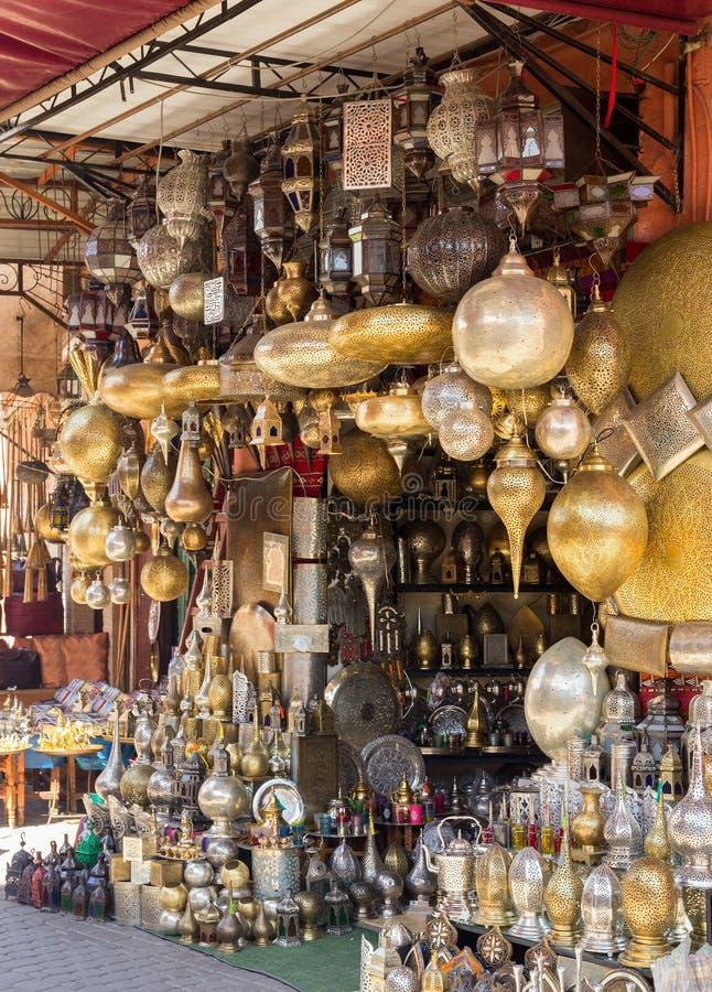 De lampen van Soukmarrakech royalty-vrije stock afbeeldingen