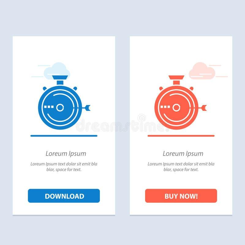 De lancering, het Beheer, de Optimalisering, de Versie, de Chronometer Blauwe en Rode Download en kopen nu de Kaartmalplaatje van royalty-vrije illustratie