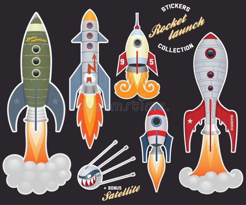 De lancering van de raket vector illustratie