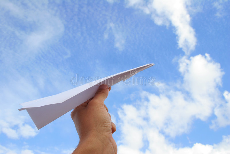 De Lancering van het Vliegtuig van het document stock afbeeldingen