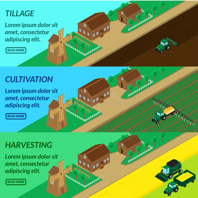 De landbouw van de Webbanner, stock illustratie