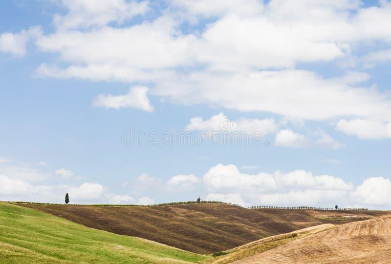 De landbouw van Toscanië royalty-vrije stock afbeeldingen