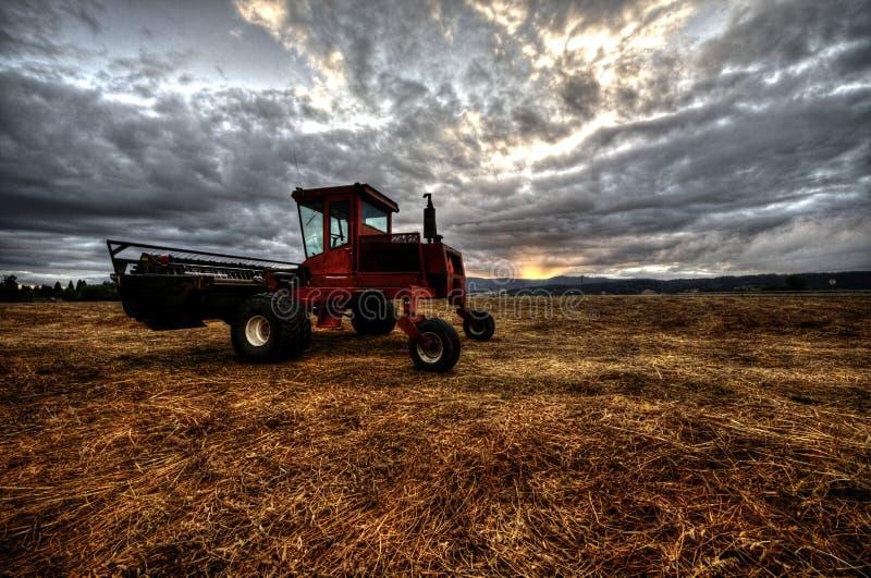 De landbouw werkend het gebied stock fotografie
