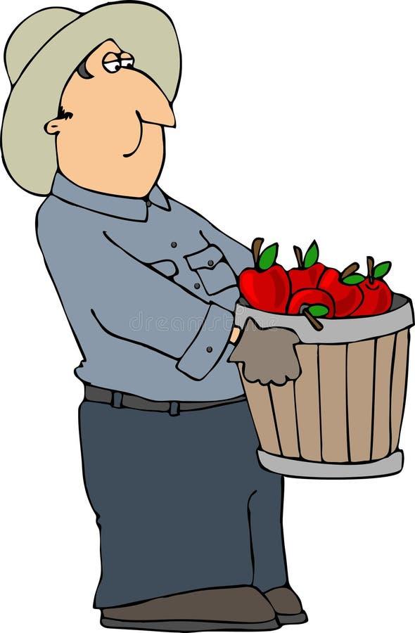 De Landbouwer van de appel vector illustratie