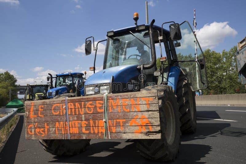 De landbouwers protesteren royalty-vrije stock fotografie