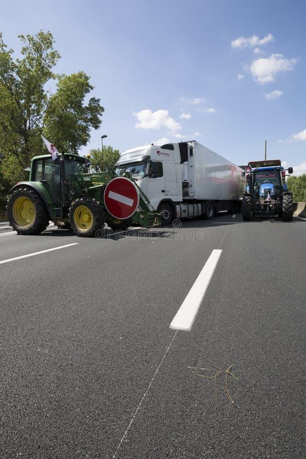 De landbouwers protesteren royalty-vrije stock foto's