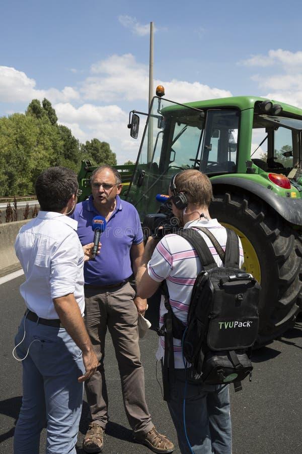 De landbouwers protesteren stock foto's
