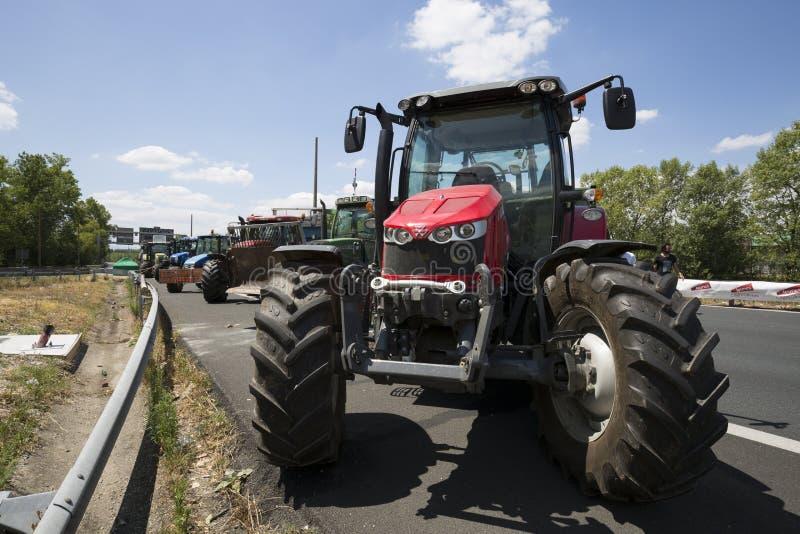 De landbouwers protesteren stock afbeelding