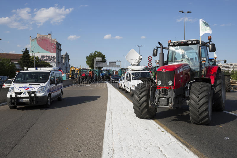 De landbouwers protesteren royalty-vrije stock afbeeldingen