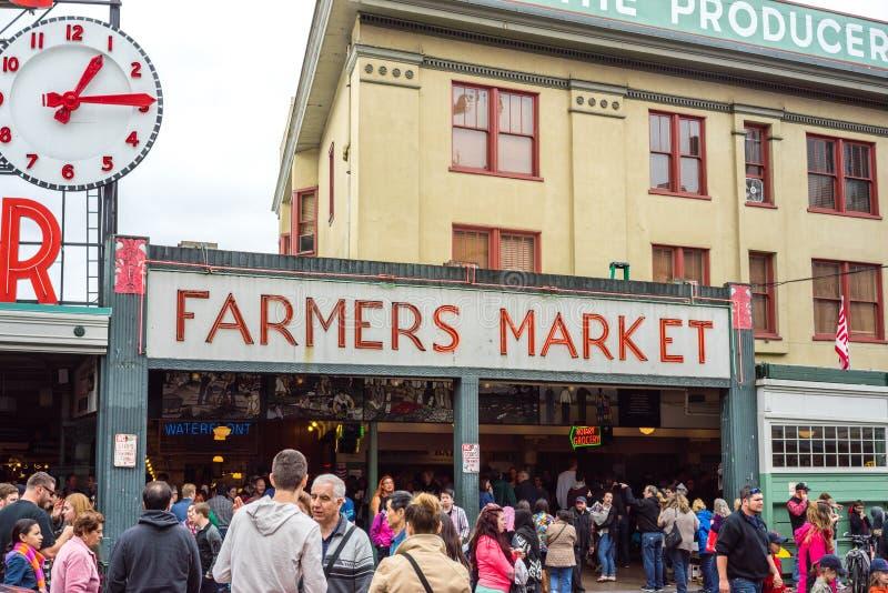 De Landbouwersmarkt van de snoekenplaats stock fotografie