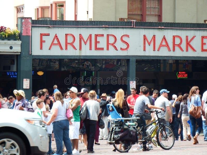 De Landbouwersmarkt van Seattle royalty-vrije stock fotografie