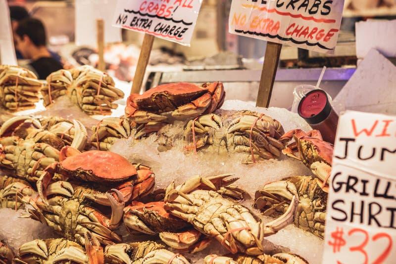 De Landbouwersmarkt van de snoekenplaats in Seattle, de V.S. stock foto
