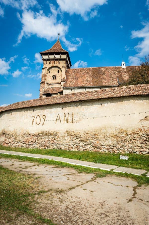 De landelijke kerk van Valeaviilor in Transsylvanië, Roemenië stock foto