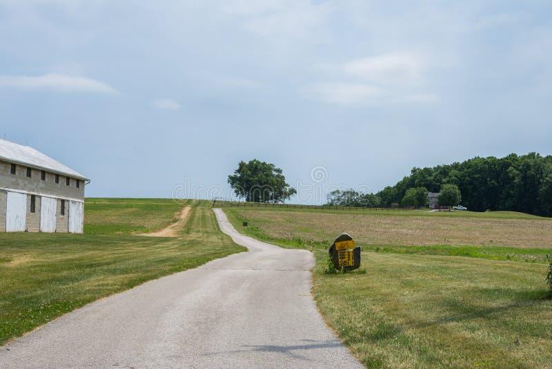 De landelijke Landbouwgrond van Pennsylvania van de Provincie van York van het Land, op een de Zomerdag stock foto