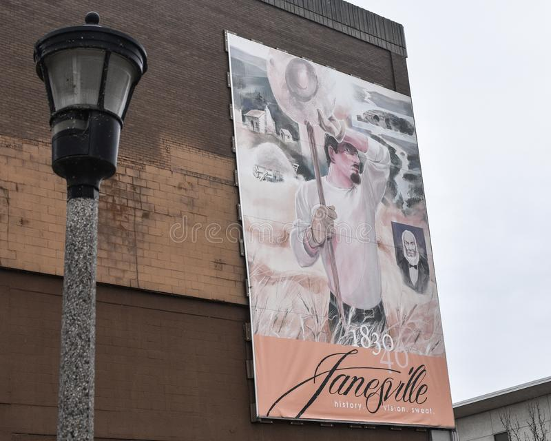 De Landmuurschildering - Janesville, WI royalty-vrije stock fotografie