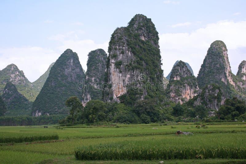 De landschappen van Guilin stock afbeeldingen