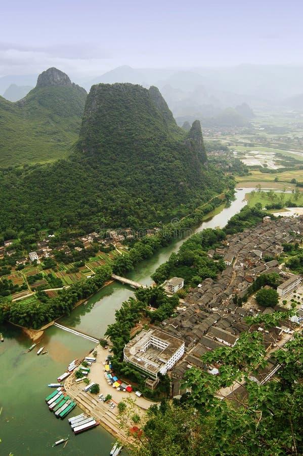 De landschappen van Guilin stock foto's