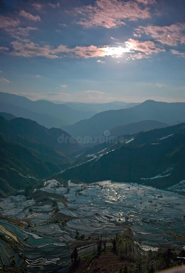 De landschappen van het terras stock afbeelding