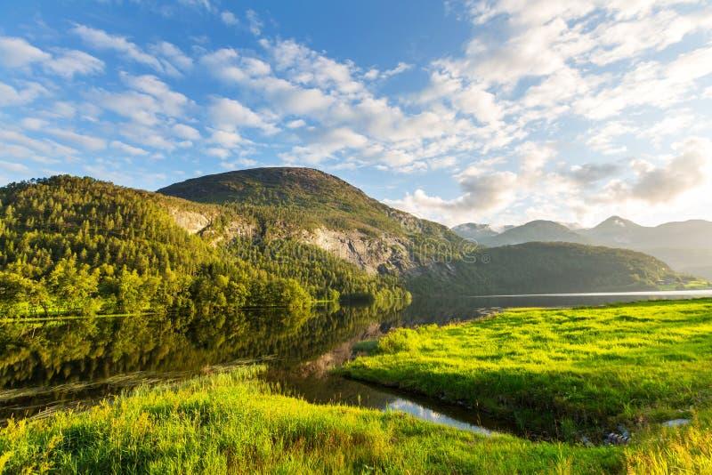 De landschappen van Noorwegen stock afbeelding