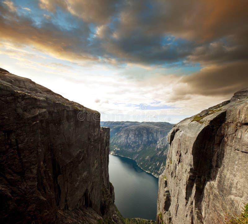 De landschappen van Noorwegen royalty-vrije stock afbeeldingen