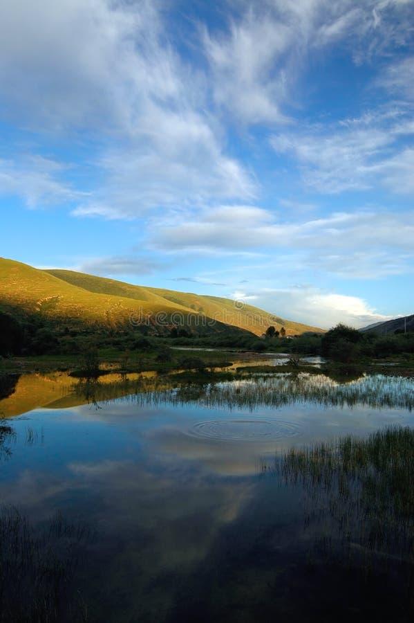 De landschappen van Tibet stock afbeeldingen