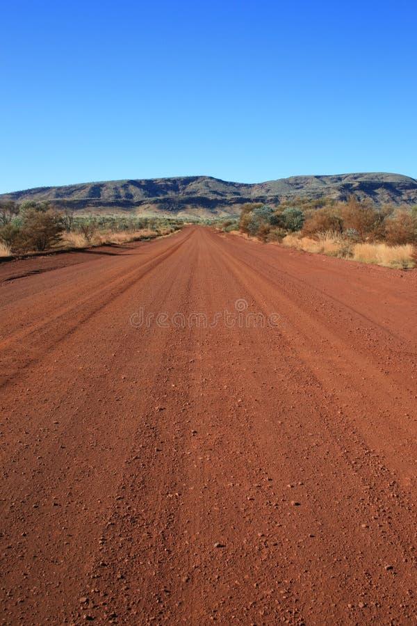 De Landweg van het binnenland royalty-vrije stock afbeelding
