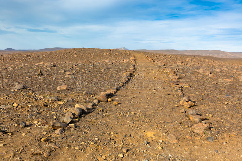 De Landweg van IJsland stock foto's