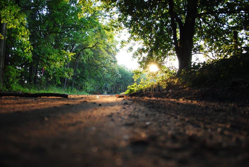 De landweg van Michigan royalty-vrije stock afbeelding
