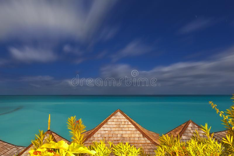De Lange Blootstelling van de Caraïbische Zee, Antigua royalty-vrije stock fotografie