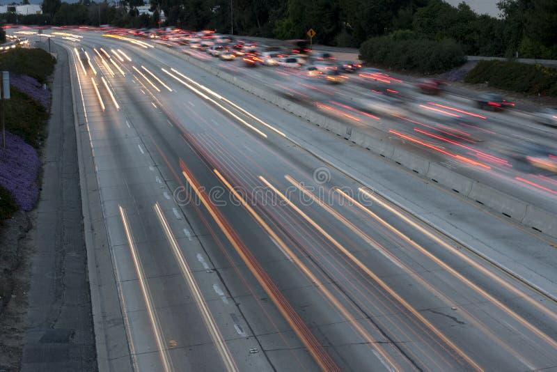 De Lange Blootstelling van de snelweg royalty-vrije stock afbeelding